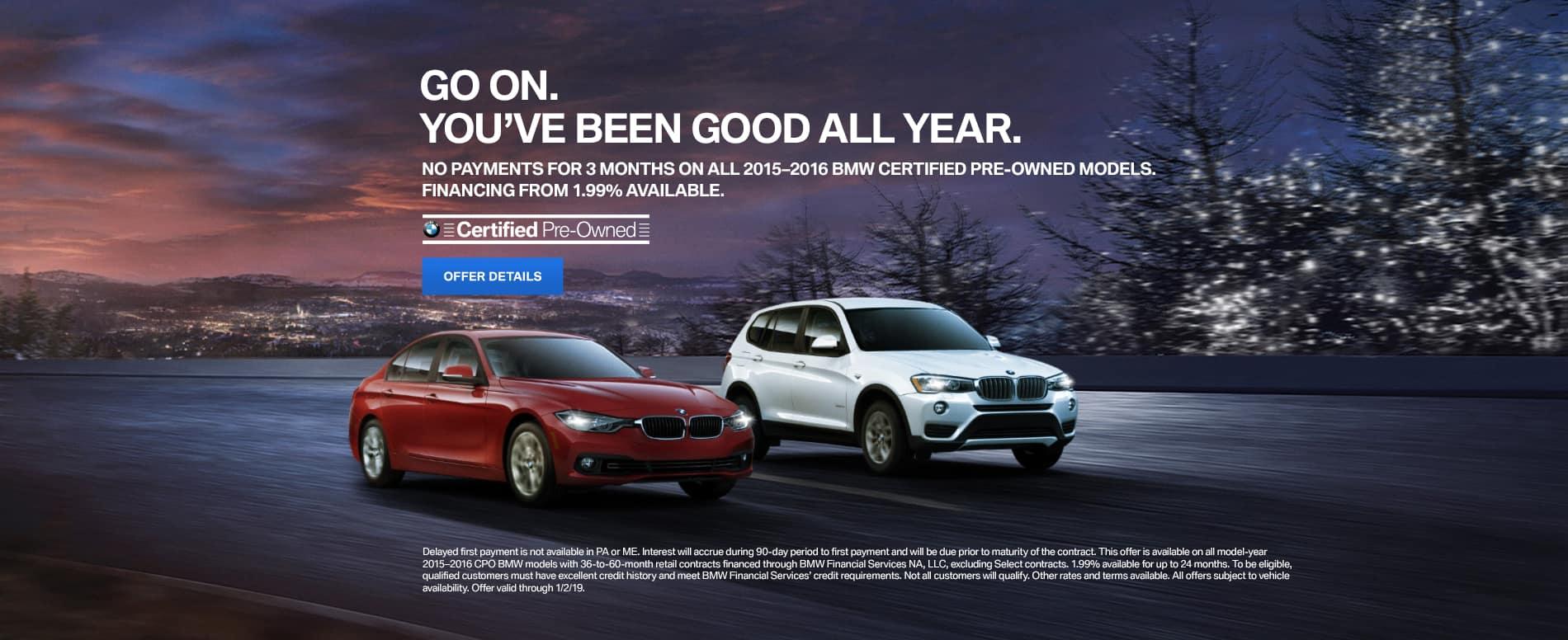 BMW CPO December Offer