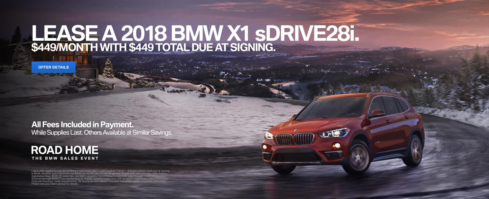 2018 BMW X1 Lease Offer
