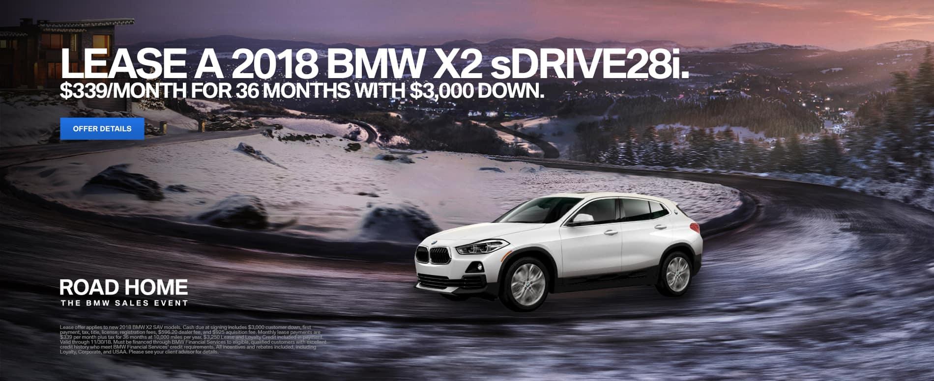 November BMW X2 Lease Offer