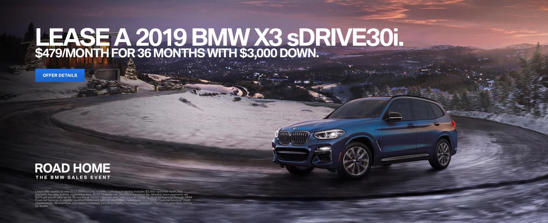 2019 BMW X3 Lease Offer