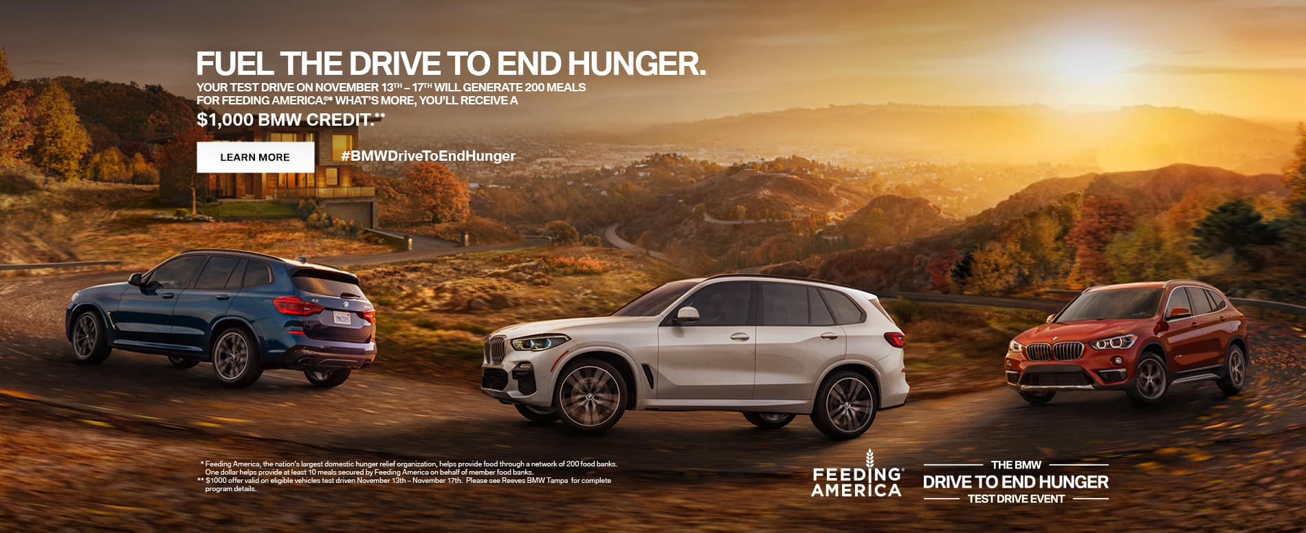 BMW Test Drive to End Hunger