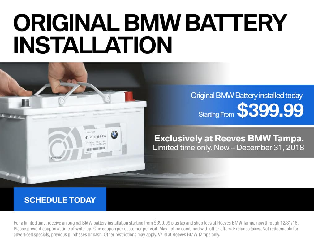 December BMW Battery Special
