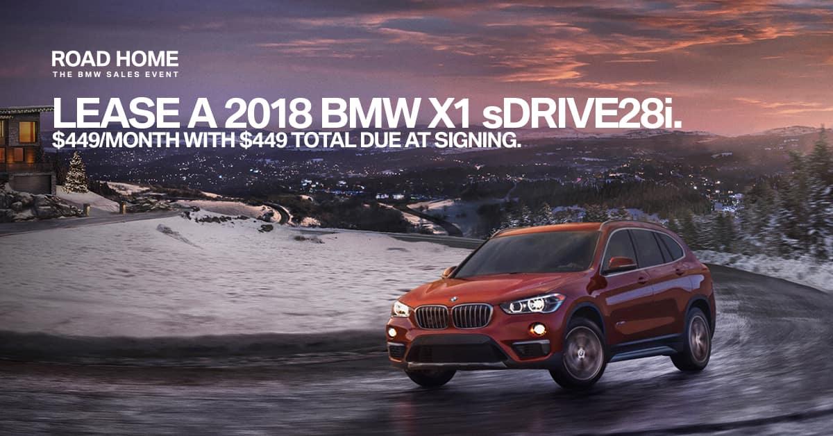 2018 BMW X1 November Lease Offer