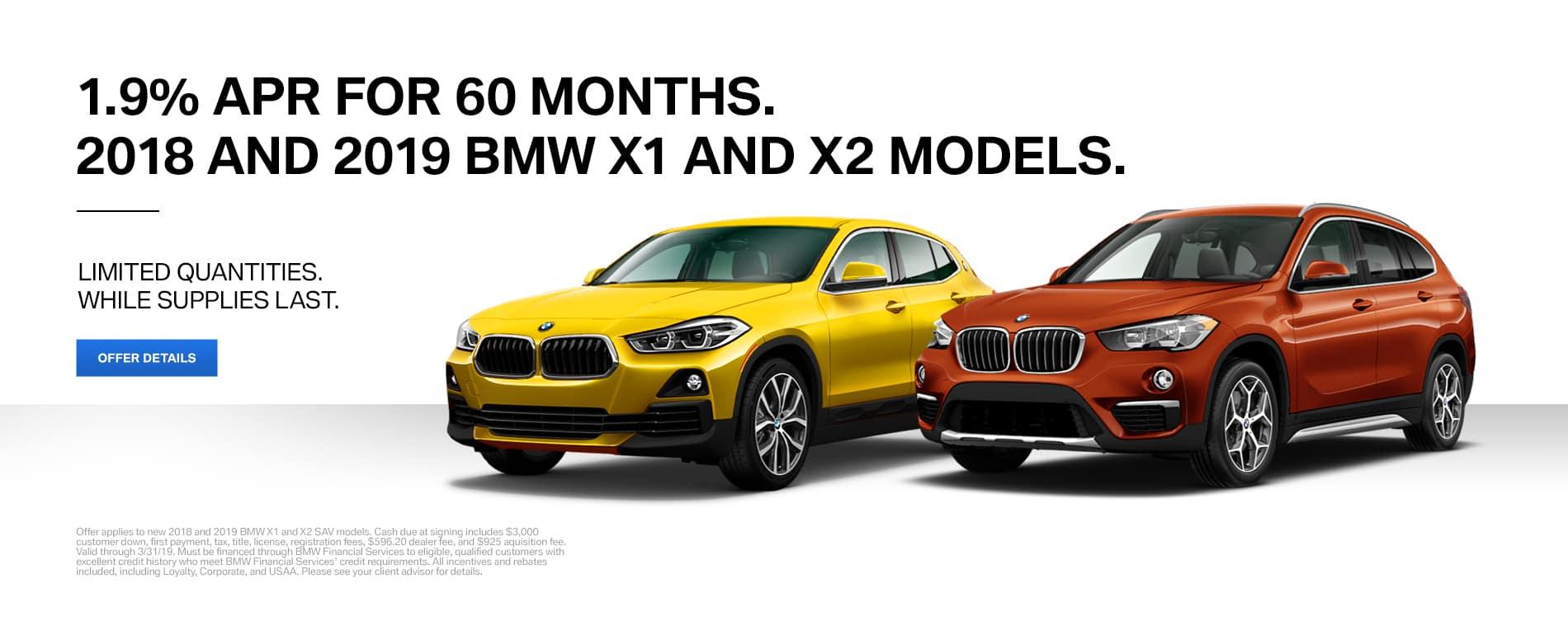 BMW X1 and BMW X2