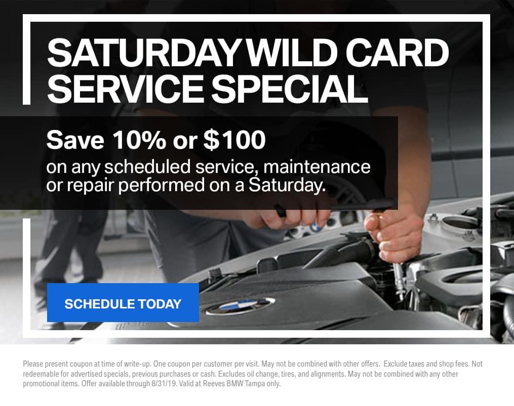 BMW Wild Card Service Special