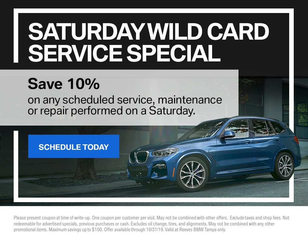 BMW Saturday Wild Card Service Special