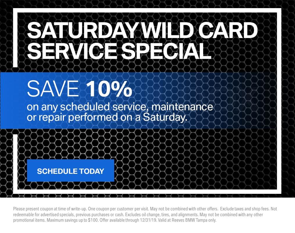 BMW Saturday Wild Card Special