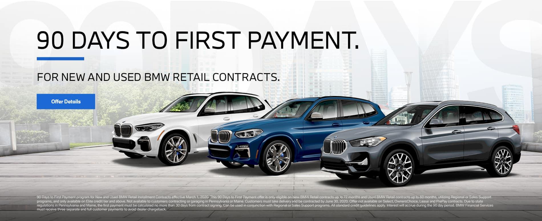 BMW 90 Days First Payment