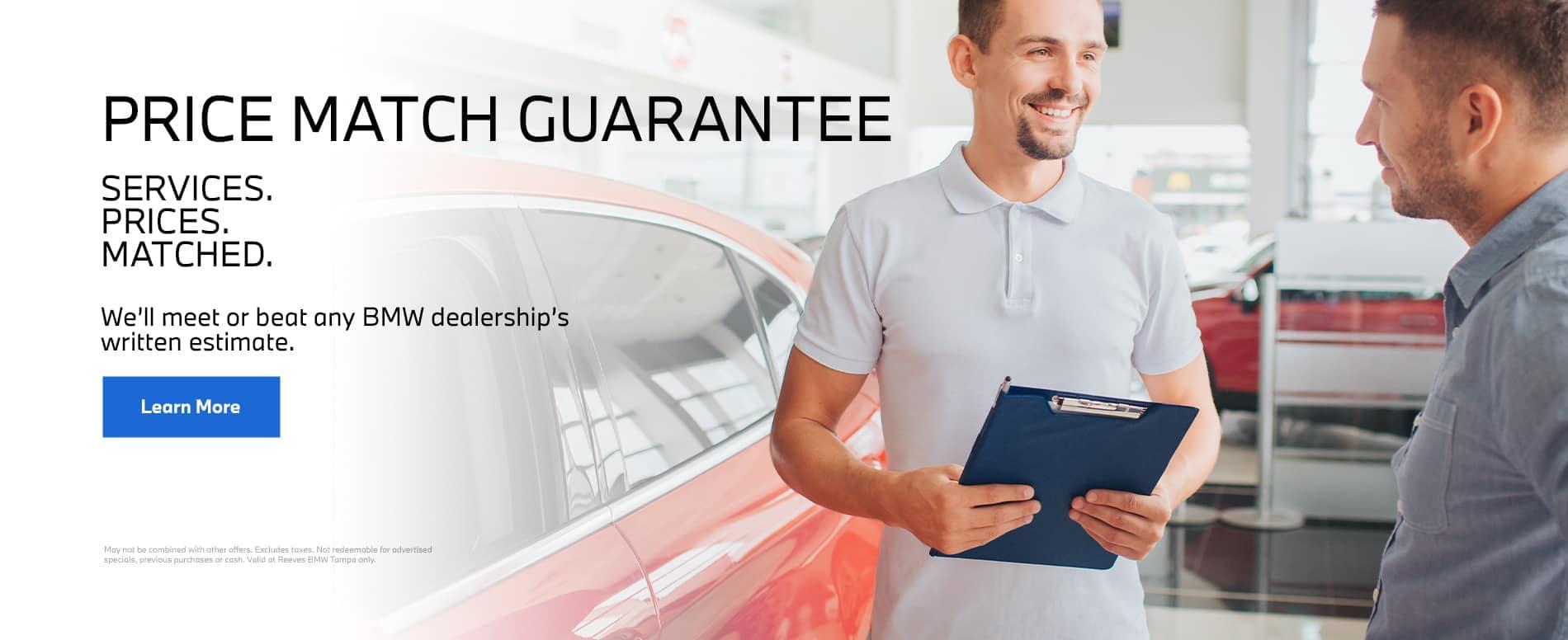 Service Price Match Guarantee