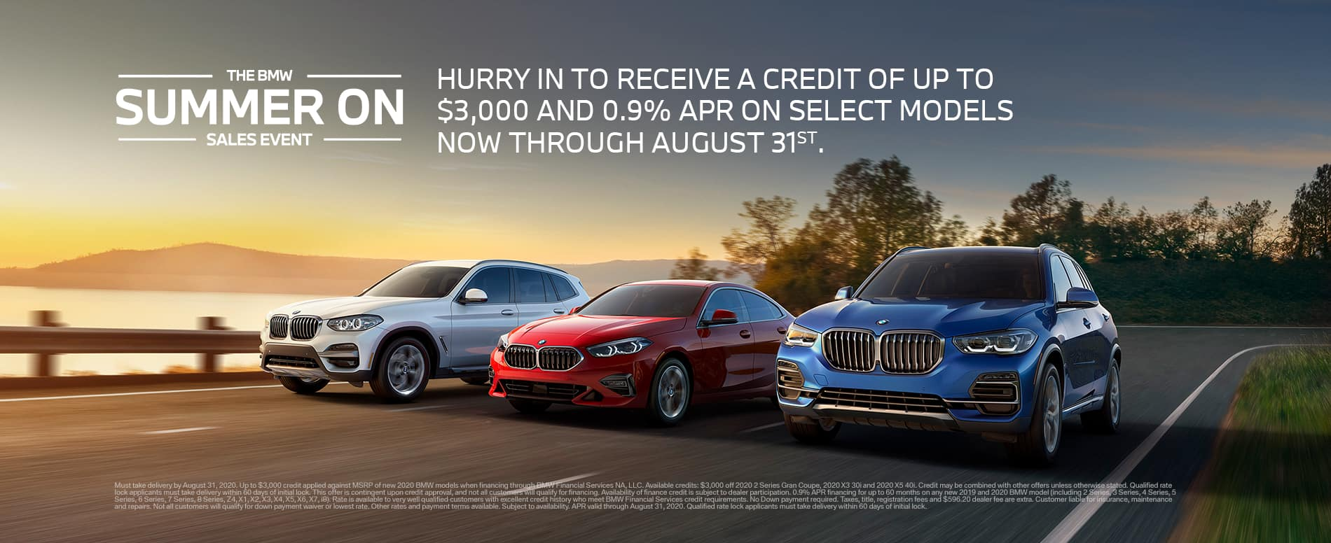 BMW Summer On Sales Event