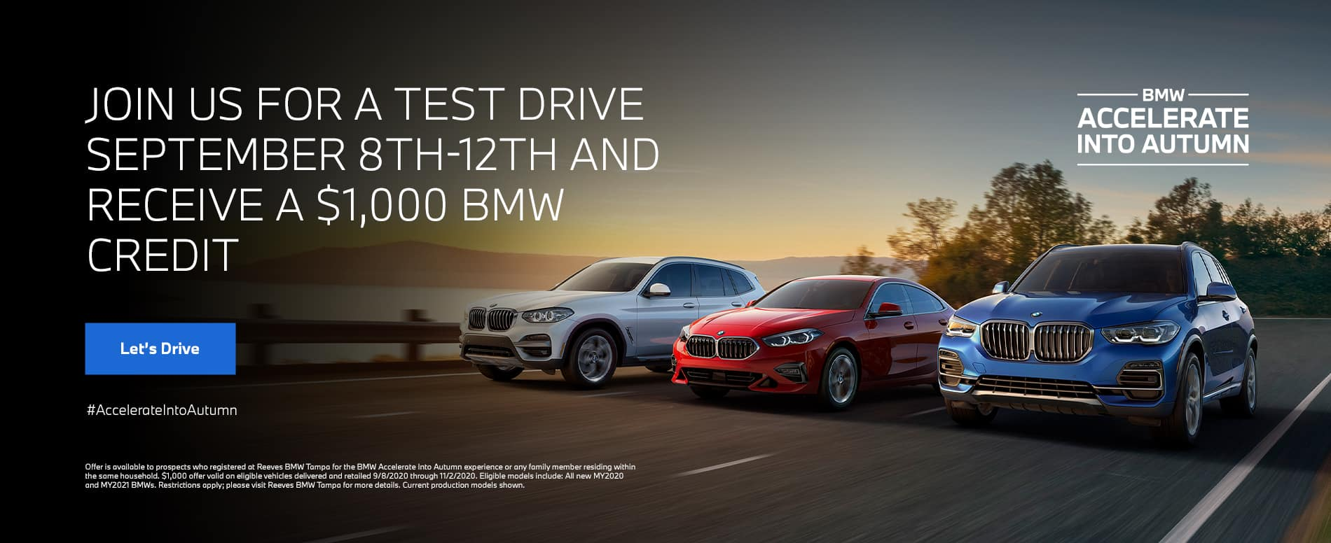 BMW Accelerate into Autumn