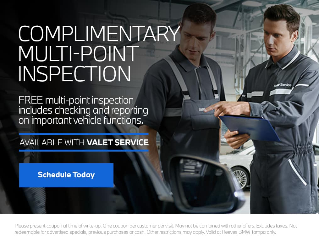 Reeves BMW Multi-Point Inspection
