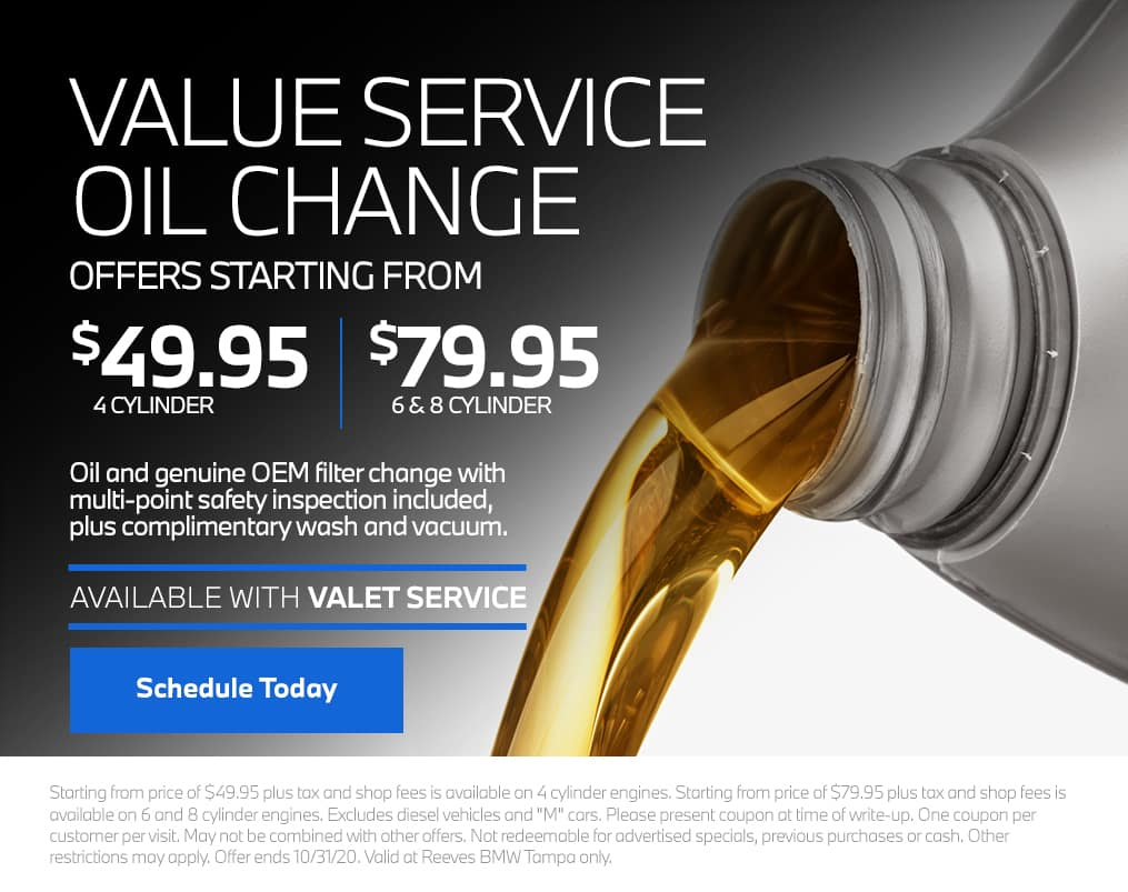 Reeves BMW Oil Change Service Special