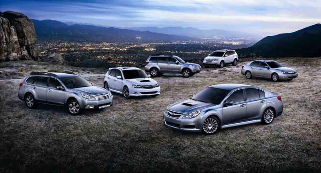 Subaru Model Lineup