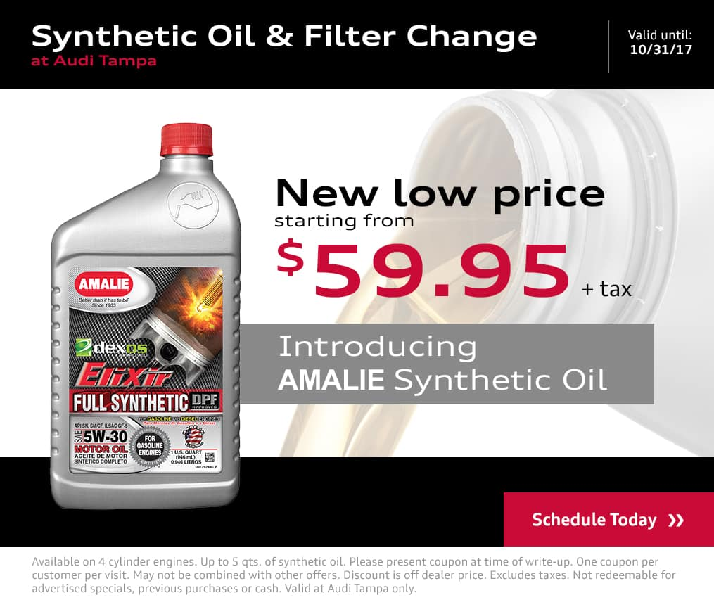 Exclusive Amalie Oil Change Special Offers