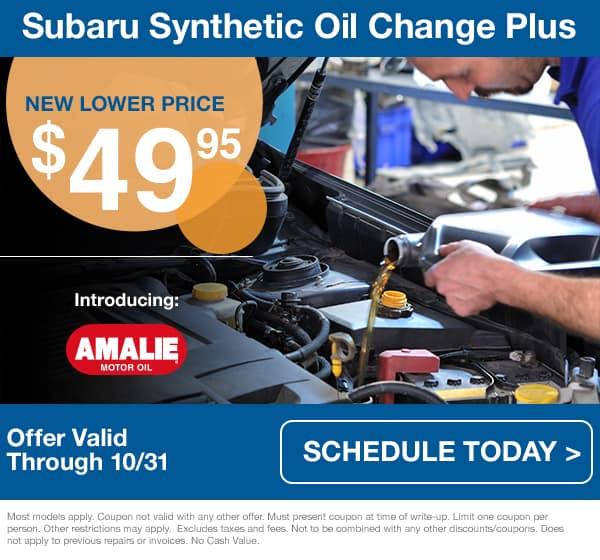 Subaru Oil Change Special