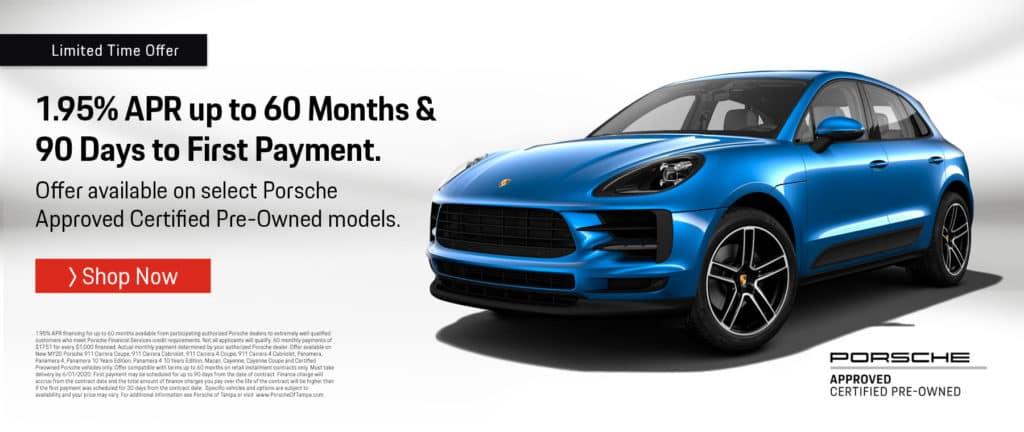 Porsche CPO offer