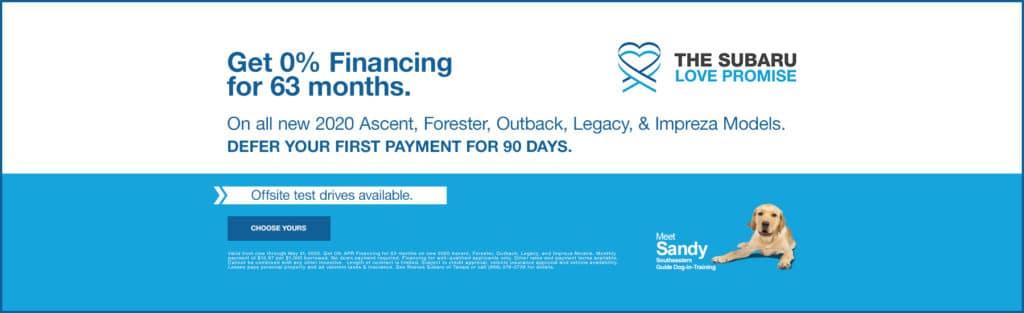 Subaru 90 Days Financing