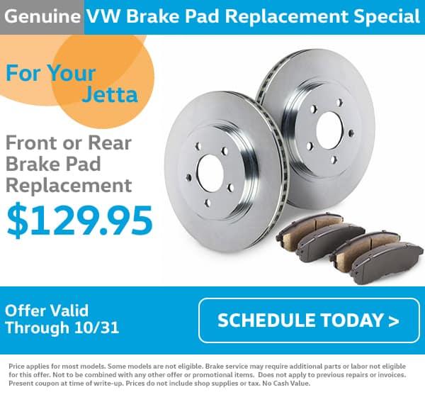 VW Jetter Brake Pad Special