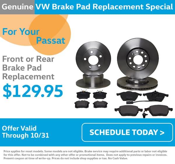 VW Passat Break Pad Special