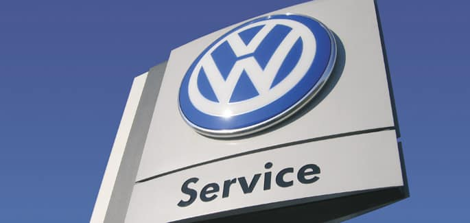 VW Service Sign