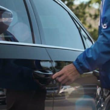2018 Volkswagen Passat exterior closeup of drivers door