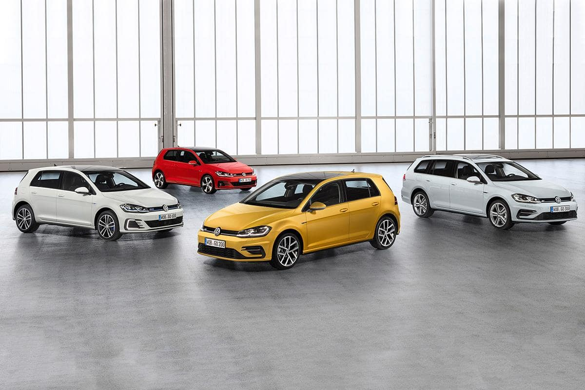 VW Golf Line Up