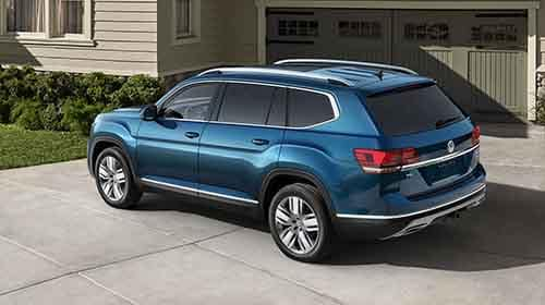 2018 Volkswagen Atlas parked outside a house