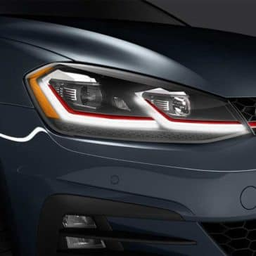 Close Up Headlight of 2018 Volkswagen Golf GTI