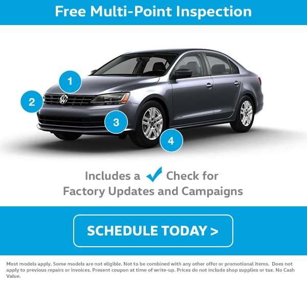 VW May Service Multi Point Inspection