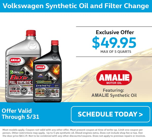 VW May Oil Change Special