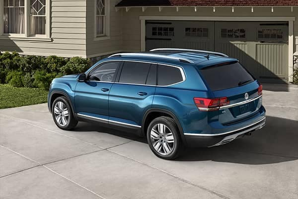 2018 Volkswagen Atlas Parked in Driveway Outside Home