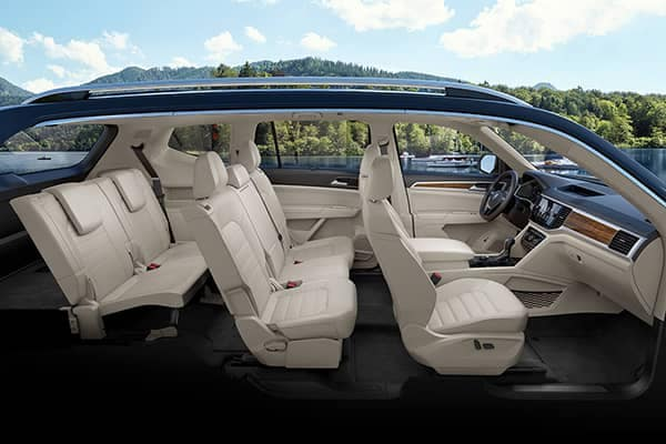 2018 Volkswagen Atlas Side Profile of Interior Seating