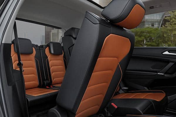 2018 Volkswagen Tiguan Interior Rear Seating with Second Row Seat Folding Down