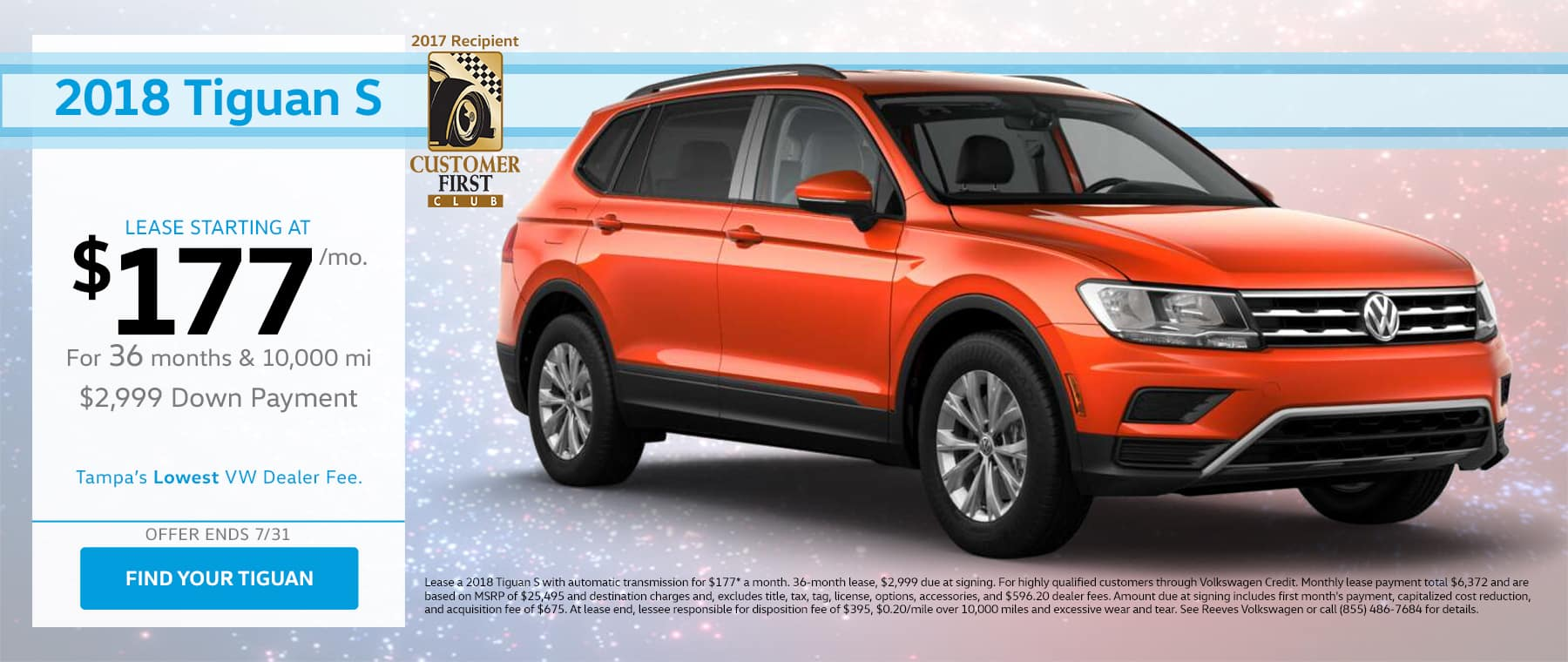 July Tiguan Lease Special