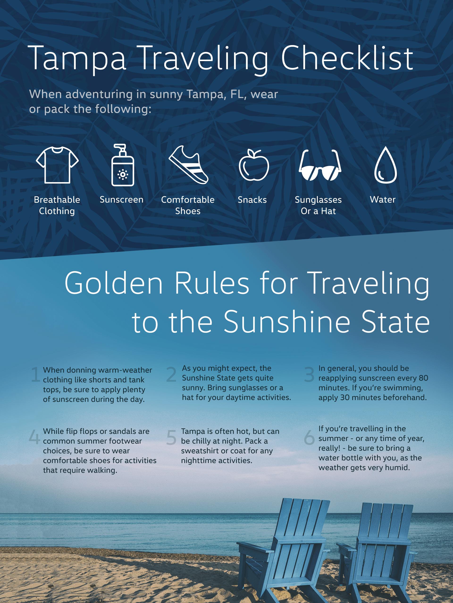 Tampa Traveling Checklist