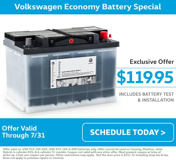 VW July Battery Special