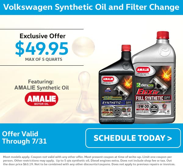 VW July Oil Change Special