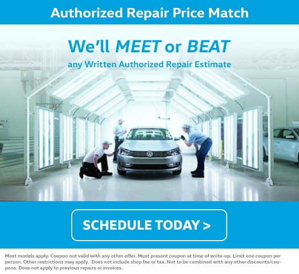 VW Service Price Match Special