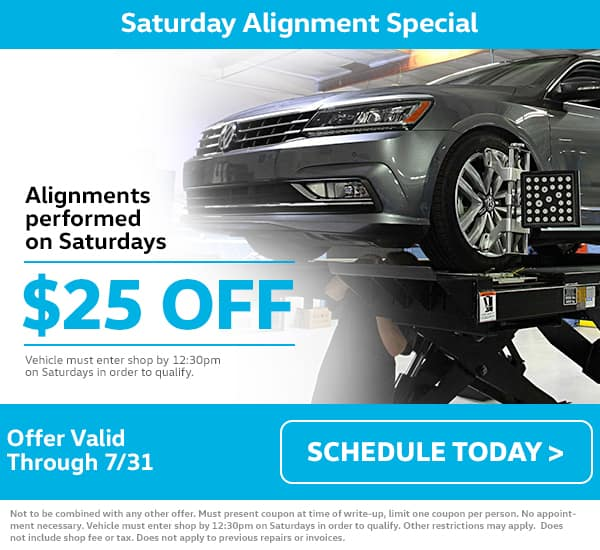 VW Saturday Alignment Special