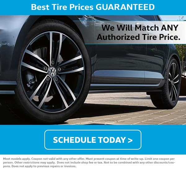 VW July Tire Price Match