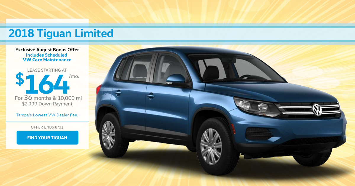 2018 August Tiguan Lease Special