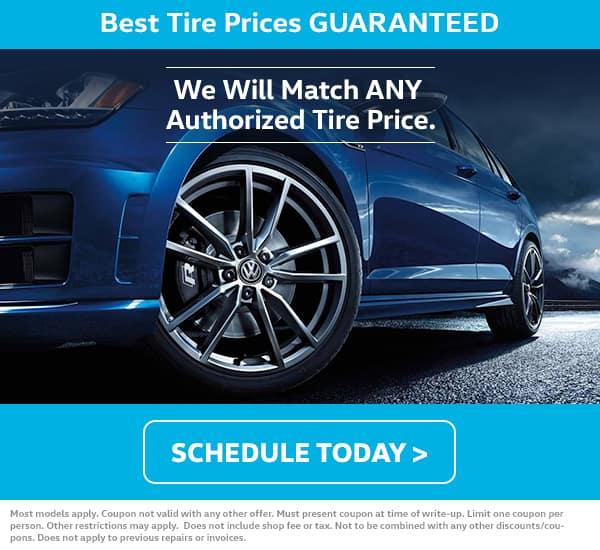 VW Tire Price Match