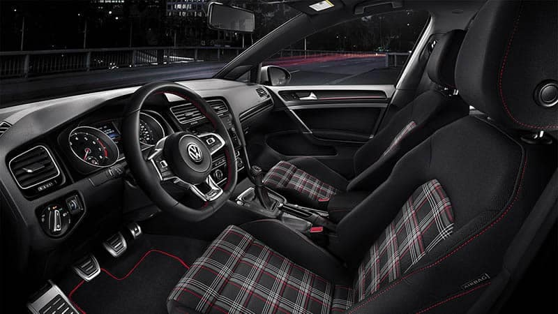 2018 Volkswagen Golf GTI Plaid Interior