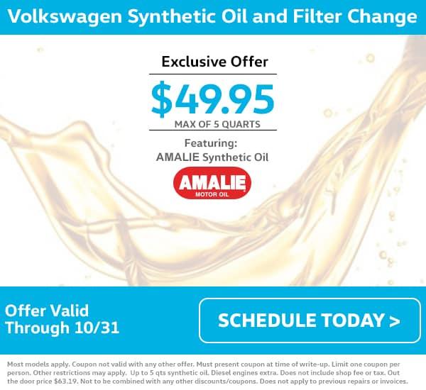 VW October Oil Change Special