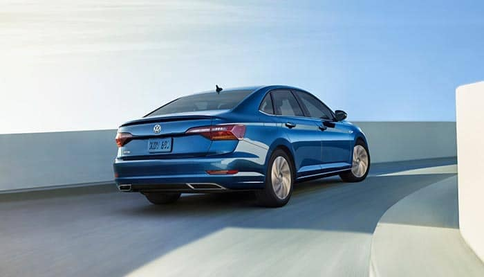 2019 Jetta Driving on a highway ramp