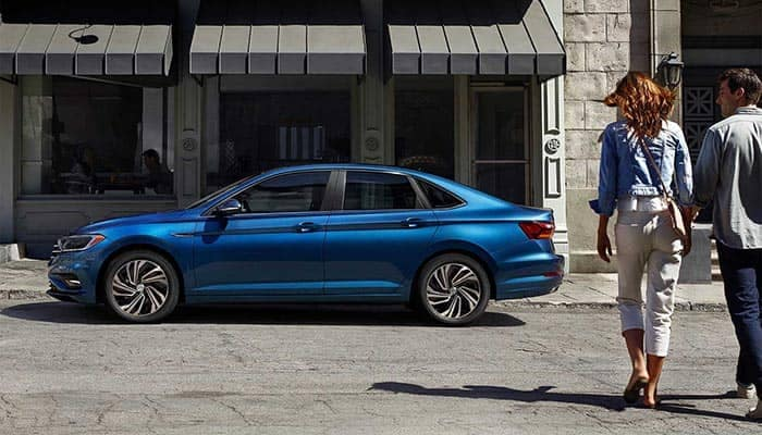 2019 Volkswagen Jetta Parked on Side of Road