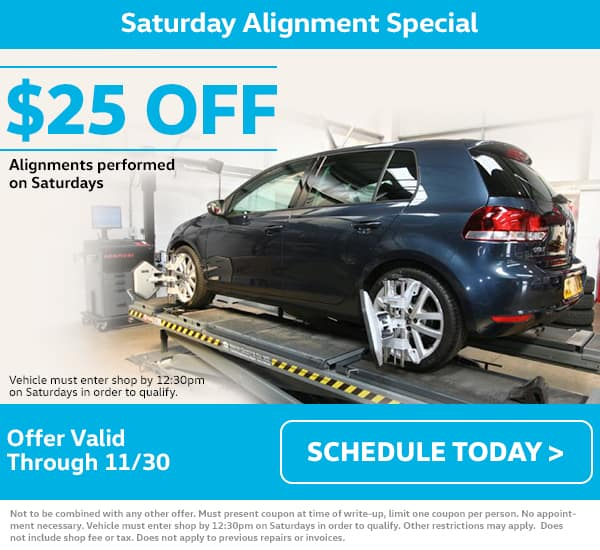 VW Saturday Alignment Special