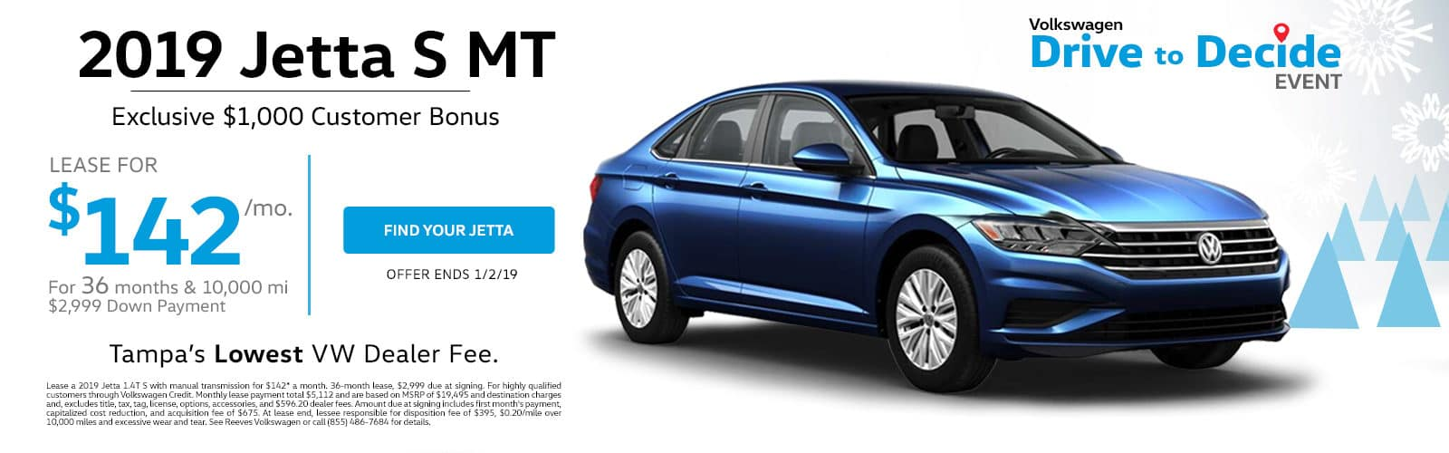 2019 Jetta Lease Special