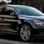 Black 2019 Volkswagen Passat from the right